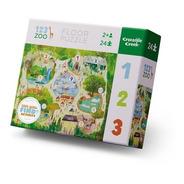 Puzzle Crocodile Creek 24 Piezas Puzzle De Piso 123 Zoo
