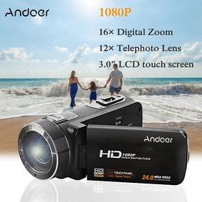 Andoer Completo Hd 1080p 16 Zoom Tocar Pantalla Digital Víd