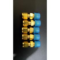 Conector Recto De 1/4 Npt A 1/4 Od En Bronce Para Tubing