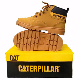 Bota Coturno Caterpillar Couro Masculino Cat Steel Toe + Cx