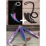 Faca Karambit Csgo Multi Color Hawk +canivete Butterfly Fade