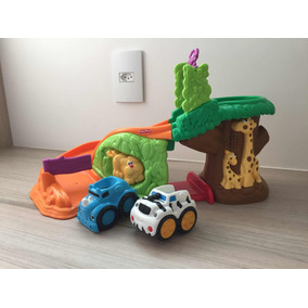 Fisher Price Pista Safari Divertido Com 2 Carrinhos