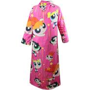 Cobertor Pelúcia C Mangas Meninas Super Poderosas Pantufa