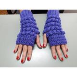 Mitones Guantes Tejido Al Crochet Super Abrigados!!!!!!