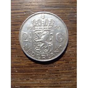 Moneda 2 1/2 Gulden 1959 Plata