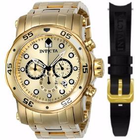 Relógio Invicta Pro Diver 23652 Dourado Troca Pulseira 0074