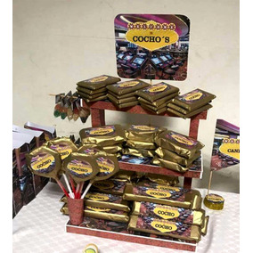 Candy Bar Combo 5- P/30 Nenes Con Base Exhibidora Y Bolsitas