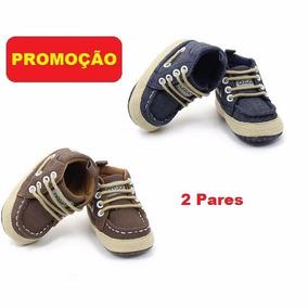 2 Calçado Bota Tênis Bebezinho 0 A 4 Mês 12x Lindo Presente