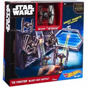 Hot Wheels Star Wars Tie Fighter Blast-out Battle Nave E Set