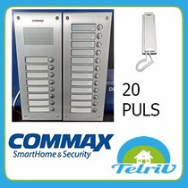 Kit Portero Eléctrico Commax 20 Departamentos Embutir