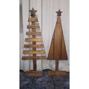 Arbolito De Navidad De Madera Vintage, Navideño Para Decorar