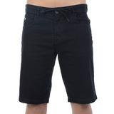 Bermuda Masculina Hang Loose Jeans Rasta Preta
