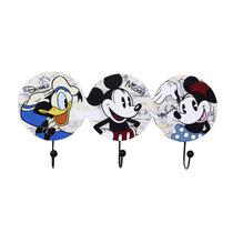 Cabideiro Pendurador 3 Ganchos Turma Do Mickey