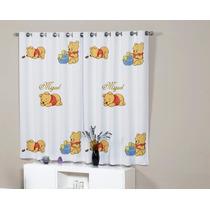 Cortina Quartol Ursinho Pooh Baby Personalizada Com Nome