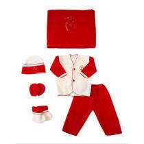Conjunto Mameluco/accesorios Rojo/beige 0/3 Meses New Born