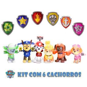 Kit Patrulha Canina Bonecos De Brinquedos Chase E Sua Turma