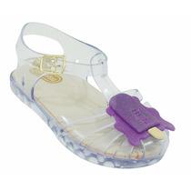 Mini Sandália Infantil Bebê Melissa Flox Modelo Aranha Trans