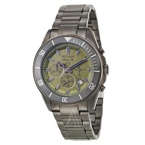 Reloj Bulova 98b206 Marine Star Verde Cronografo