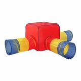 Tunel Play Tent Discovery Kids Cubo + 3 Salidas Con Estuche