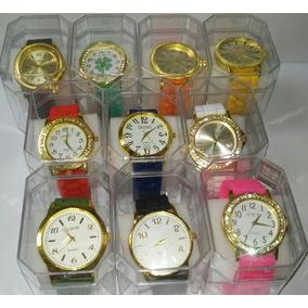 Lote/kit 10 Relógio Feminino Silicone+caixa Atacado/revenda