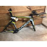 Cuadro Krbo Tt1 Race Triatlón Negro/amarillo Talla Large