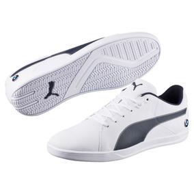 Tenis Puma Bmw Ms Court Hombre Blanco Azul Nuevo 174392