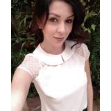 Blusa Linda Crepe Burble Veste Muito Bem Juni Fashion 3046