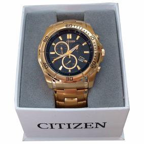 Relógio Citizen Cronograph An7102-54e Aço Dourado Original