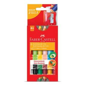 Giz De Cera Ecogiz 12 Cores Madeira - Faber Castell