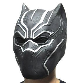 Mascara Borracha Pantera Negra Latex Vingadores Guerra Civil