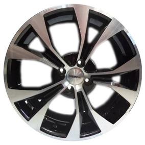 Roda Aro 17 Kroma Kr1650 Civic Europeu Diamantada Preto Jogo