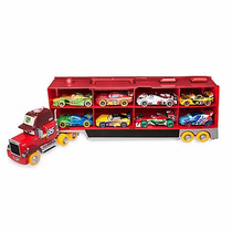 Disney Cars Trailer Mack 8 Carros Edición Carnival 2016