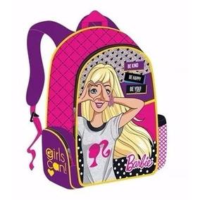 Morral O Bolso Escolar Mediano De Barbie Marca Capi