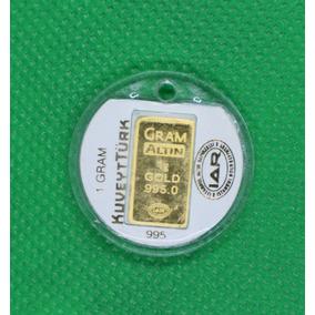 Lingote De Oro 1 Gramo De 24 Kilates Oro Fino Gramaltin