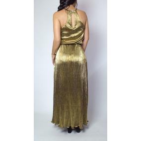 Vestido Largo Maxidress Mexicano Rosas Oro Negro