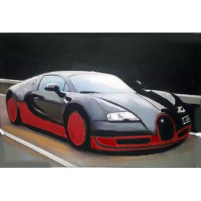 Camilo Lucarini Original Cuadro De Bugatti Veyron 2016