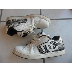 Tenis Dc Shoes De Piel 28 Mex Blanco Y Negro Chécalos