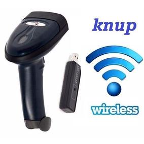 Leitor De Codigo De Barras Sem Fio Knup Wireless Usb Kp-1018