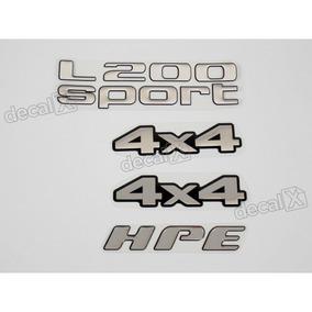 Kit Adesivos Mitsubishi L200 Sport 4x4 Hpe Resinado Rs14