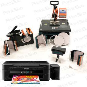 Máquina De Estampar Canecas Camisetas Chinelo + Impressora