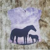 Camiseta Feminina Cowgirl Cavalo Sombra Tshirt Country