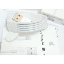Cable + Cargador 100% Original Usb Apple Iphone 5, 6, 7 Ipad