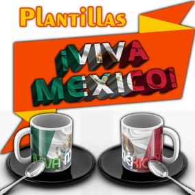 Plantillas Vectores Tazas Sublimar Viva México Sublimacion