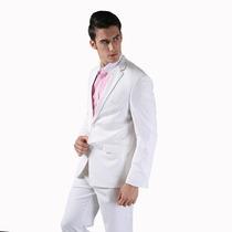 Terno Slim Branco Oxford + Gravata + Capa + Frete Gratis