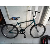 Bicicleta Rin 24 Bmx Cromada Con Azul Nueva C26