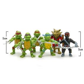 Kit Coleção 6 Mini Bonecos De 5cm Das Tartarugas Ninjas