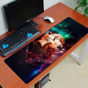 Mousepad Gamer Extra Grande Large Teclado 70x35 Exbom Lobo