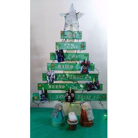 Arbolito Navidad De Madera .- Pesebre