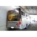 Motorhome Com Garagem P/3 Motos Vw 8.140 Motor Dianteiro