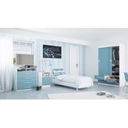 Juego Dormitorio Juvenil Mesa Luz + Chiffonier + Ropero *3